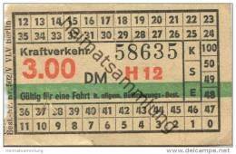 Deutschland - Berlin - DDR Kraftverkehr - Fahrschein 3.00DM - U-Bahn