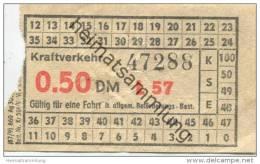 Deutschland - Berlin - DDR Kraftverkehr - Fahrschein 0.50DM - U-Bahn