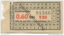 Deutschland - Berlin - DDR Kraftverkehr - Fahrschein 0.60DM - U-Bahn
