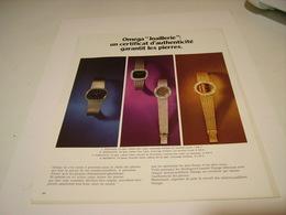 ANCIENNE PUBLICITE  MONTRE OMEGA JOAILLERIE 1972 - Bijoux & Horlogerie