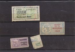 TITRES DE TRANSPORTS / CARBURANT AUTO /IMPOT SUR LES VELOCIPEDES, ETC'dil376) - Historical Documents