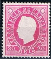 Cabo Verde, 1886, # 17 Dent. 13 1/2, MH - Cape Verde