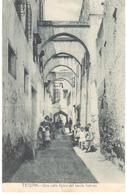 POSTAL    TETUAN  -MARRUECOS  - UNA CALLE TÍPICA DEL BARRIO HEBREO - Marruecos