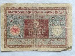 Billete Alemania. 2 Marcos. 1920 - 2 Mark
