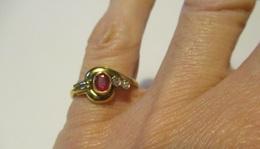 Anello Rubino E Diamanti - Rings