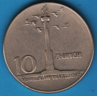 POLAND 10 ZLOTYCH 1965KM# 55 Colonne Sigismond III - Polen