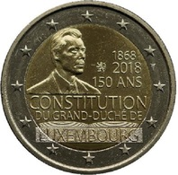 LUXEMBOURG 2 EURO 2018 - Constitution - UNC - Luxembourg