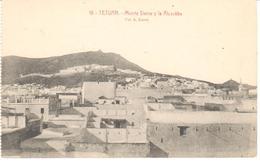 POSTAL    TETUAN  -MARRUECOS  - MONTE DERRA Y LA ALCAZÁBA  -FOTO A. SIERRA - Marruecos