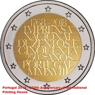 PORTUGAL 2 EURO 2018 - MINT - UNC Quality - Portugal