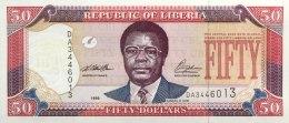 Liberia 50 Dollars, P-24 (1999) UNC - Liberia