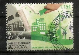 ANDORRA . EUROPA 2016. THINK GREEN / PENSAR EN VERD ! Electricité. Oblitéré Andorra 1 ère Qualité - Europa-CEPT