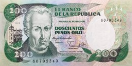 Colombia 200 Pesos, P-429a (1983) UNC - Colombie