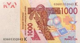 West African States 1.000 Francs, P-715Ka (2003) UNC - SENEGAL - West African States