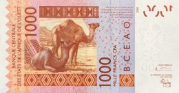 West African States 1.000 Francs, P-815Ta (2003) UNC - TOGO - West African States