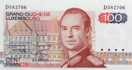 Luxemburg 100 Francs, P-57a (1980) UNC - Luxembourg
