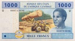 Central African States 1.000 Francs, P-207U (2002) UNC - CAMEROUN ISSUE - Central African States