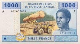 Central African States 1.000 Francs, P-407A (2002) UNC - GABON ISSUE - Central African States