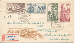 Czechoslovakia Registered FDC 20-9-1956 With Cachet Sent To Sweden - FDC