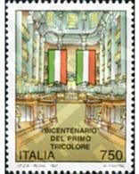 Ref. 131750 * MNH * - ITALY. 1997. BICENTENARY OF THE FIRST THREE COLORS FLAG . BICENTENARIO DE LA PRIMERA BANDERA TRICO - 6. 1946-.. Republic