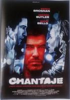 Folleto De Mano. Película Chantaje. Pierce Brosnan. Maria Bello. Gerard Butler - Merchandising
