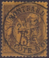 Montbard (Cote D'Or) : Cachet à Date Type 18 Sur Sage N°99. - Marcophilie (Timbres Détachés)