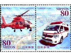 Ref. 307887 * MNH * - JAPAN. 2013. EMERGENCY SERVICES . SERVICIOS DE EMERGENCIA - 1989-... Emperor Akihito (Heisei Era)