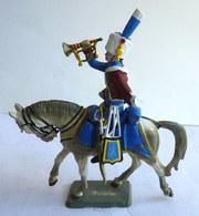 FIGURINE STARLUX Cavalier Empire C 022 ARTILLEUR DE LA GARDE TROMPETTE 1800 - 1815  1966 Plastique 1/32ème - Starlux