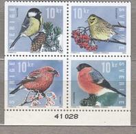 BIRDS SWEDEN 2004 Mi 2439-2442 MNH (**) #22773 - Oiseaux