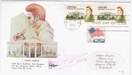 USA United States 1981 FDC James Hoban, White House Architect, Ireland, Canceled In Washington, Siauliai USSR - Premiers Jours (FDC)