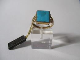 Anello Oro E Turchese Madrevitato Fiorentino - Rings