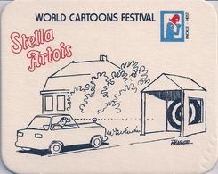 STELLA ARTOIS -  WORLD CARTOONS FESTIVAL - KNOKKE-HEIST (Sous-bock). - Sous-bocks