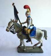 FIGURINE STARLUX Cavalier Empire C 043 CARABINIER OFFICIER PORTE DRAPEAU 1810 - 1815 (1) Plastique 1/32ème - Starlux