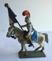 FIGURINE STARLUX Cavalier Empire C 043 CARABINIER OFFICIER PORTE DRAPEAU 1810 - 1815 (2) Plastique 1/32èm - Starlux