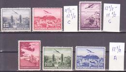 YUGOSLAVIA - JUGOSLAVIJA - 1937 - AIRMAIL - Mi. 342-347 ** MNH VF  LOT - 1931-1941 Royaume De Yougoslavie