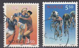NORGE - 1993 - Serie Completa Di 2 Valori Usati: Yvert 1086/1087, Come Da Immagine. - Gebraucht