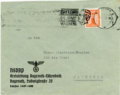 (Lo2115) Brief DR Dienst St. Bayreuth NSDAP - Deutschland