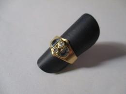 Anello Topazio Azzurro E Zirconi - Rings