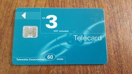 Telecarte Malte  60 Ut 3 Lm - Malte