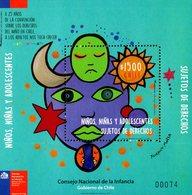 Chile - 2017 - New Deals With Childhood - Children Art - Mint Souvenir Sheet - Chile