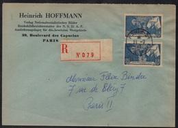 PARIS OCCUPE - PHOTOGRAPHE D HITLER / 1943 LETTRE RECOMMANDEE - VOIR ENTETE DE LETTRE (ref 4340) - France