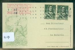 L.P. BRIEFKAART Uit 1945 Van AMSTERDAM Naar BATAVIA NEDERLANDS-INDIE  (11.191) - Brieven En Documenten