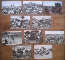 Lot De 10 Cartes Postales Anciennes CAMARGUE / GITANS / Saintes Maries De La Mer / Chevaux / Guardians N&B - Europe