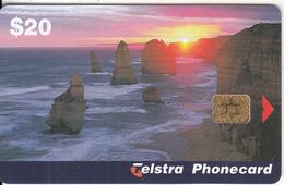 AUSTRALIA(chip) - 12 Apostles, Tirage 37500, Exp.date 06/00, Used - Australie
