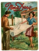 """Revue Vintage """"Nous Deux"""" - N° 200 - Jeux De Plein Air - 1951 - Livres, BD, Revues"""
