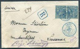 1907 New Caledonia Registered Cover Thio - Switzerland. Luzern, Rigi Kaltbad, Vitznau - New Caledonia