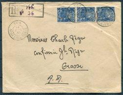 1930 New Caledonia Provisional Registered Cover (Manuscript) Voh - Grasse France - Nieuw-Caledonië