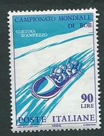 Italia, Italy, Italien 1966; Bob A 4, Four-man Bob. - Inverno