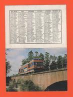 ET/A/ CALENDIER 1987 CERCLE PARISIEN TRAIN COPEF A SAN BENIGNO LIGNE SATTI SETTIMO A RIVEROLO BANLIEU DE TURIN AUTORAIL - Calendriers