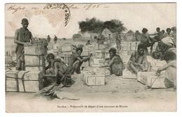 Mali - Soudan Francais - Préparatifs De Départ D'une Caravane De Maures - 1905 - 2 Scans - Mali
