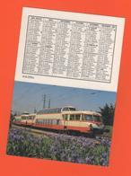 ET/A/ CALENDIER 1986 CERCLE PARISIEN TRAIN COPEF COMPOSE DE DEUX AUTORAILS PANORAMIQUE A VIAS HERAULT - Calendriers